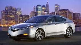 2009 Acura TL SH-AWD Near Sea Side Pose In Silver