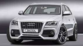 2009 Audi Q5 Caractere In White Front Pose N Grey Background