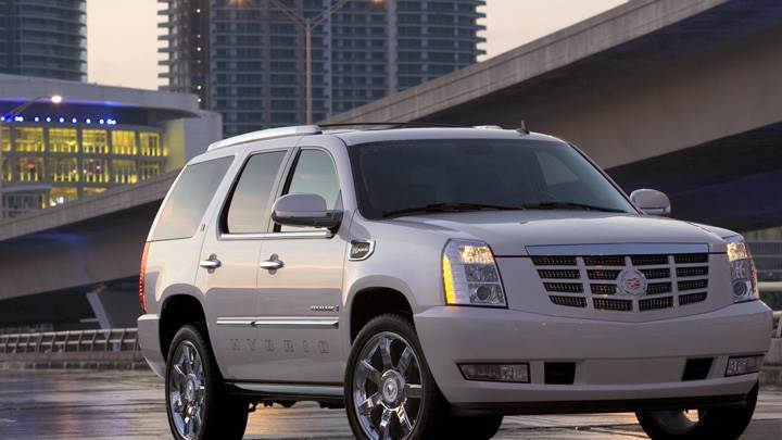 2009 Cadillac Escalade Hybrid In White Front Pose