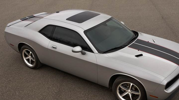 2009 Dodge Challenger SE Rallye In Metalic Silver Bright Side Pose
