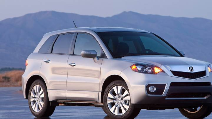 2010 Acura RDX Near Mountain Front Pose In Silver