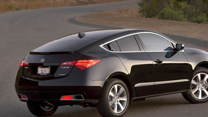 2010 Acura ZDX Running In Black Back Side Pose