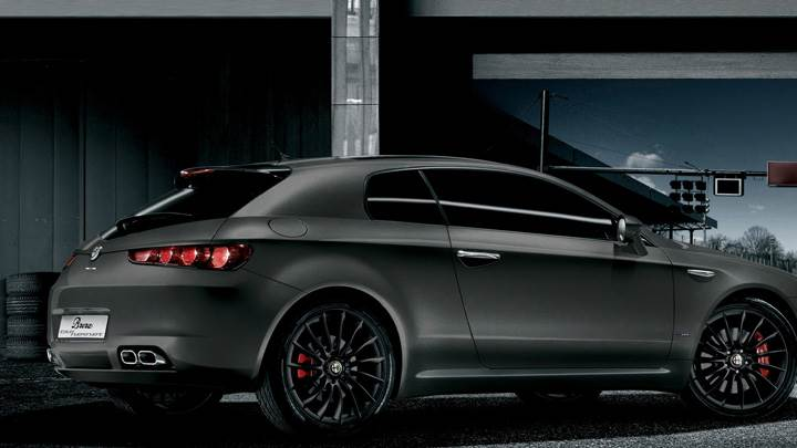 2010 Alfa Romeo Brera In Dark Grey Side Pose