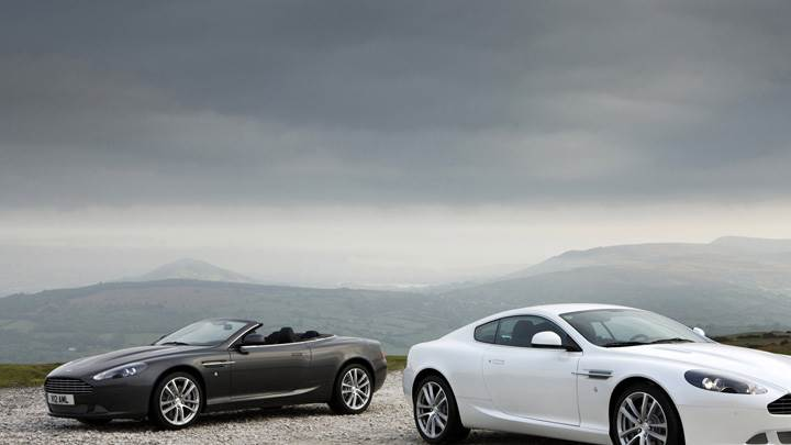 2010 Aston Martin DB9 Black Vs White Near Mountains