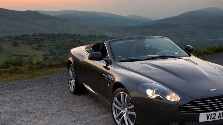 2010 Aston Martin DB9 In Black Near Hills