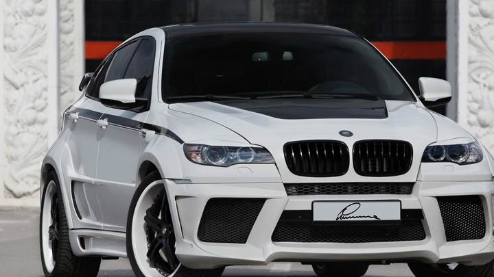 2010 BMW X6 Lumma Design Front Pose In White