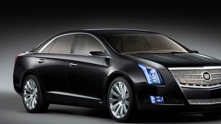2010 Cadillac XTS Platinum Concept Side Front Pose In Black