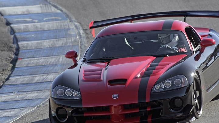 2010 Dodge Viper SRT10 ACR In Red N Black On Racing Track