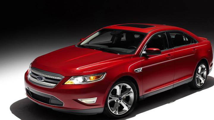 2010 Ford Taurus SHO Front Side Pose In Red