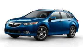 2011 Acura TSX Sport Wagon In Blue And White Background