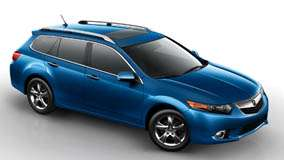 2011 Acura TSX Sport Wagon Side Front Pose In Blue