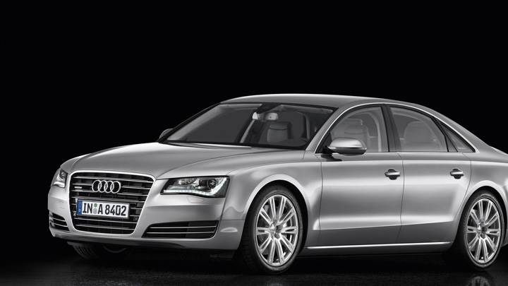 2011 Audi A8 Side Front In Grey