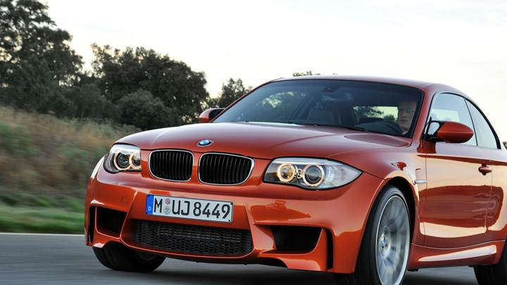 2011 BMW 1 Series M Front Headlights in Orange