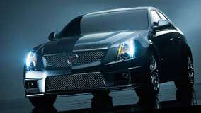 2011 Cadillac CTS-V HeadLights On And Night Photoshoot