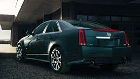 2011 Cadillac CTS-V Side Back Pose In Black