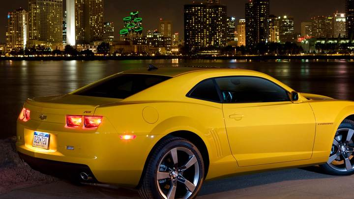 2011 Chevrolet Camaro Side Back Pose in Yellow
