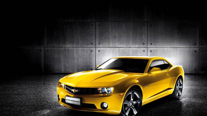 2011 Chevrolet Camaro Yellow in Side Pose