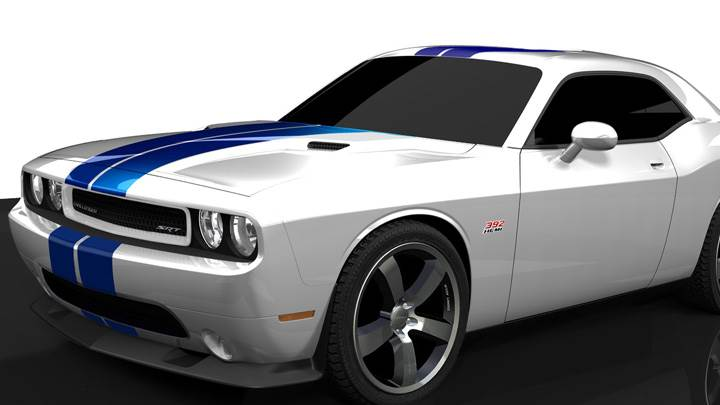 2011 Dodge Challenger SRT8 In White Side Pose