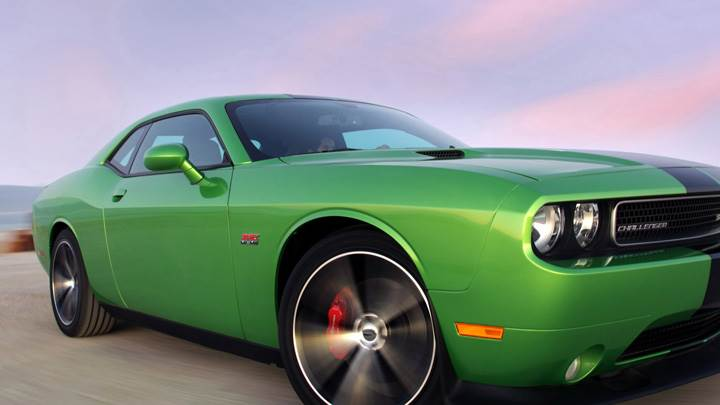 2011 Dodge Challenger SRT8 in Green On Highway