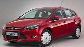 2011 Ford Focus ECOnetic In Red Side Front Pose