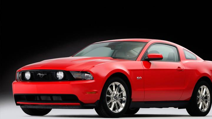 2011 Ford Mustang GT Front Side Pose In Red