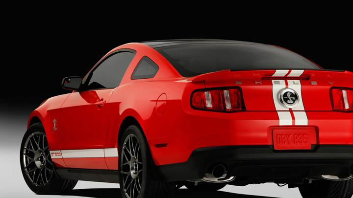 2011 Ford Shelby GT500 SVT Back Side Pose In Red