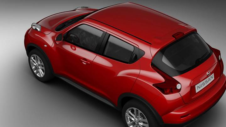 Side N Top View Of 2011 Nissan Juke In Red