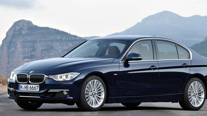 2012 BMW 3 Series Sedan F30 In Black Near Mountains