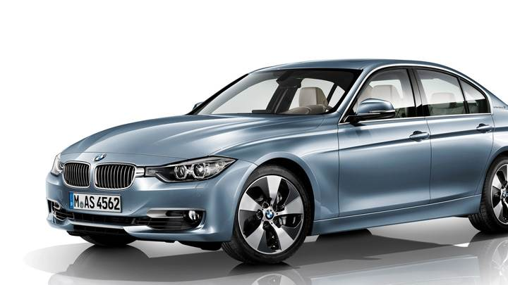 2012 BMW 3 Series Sedan F30 Side Pose N White Background
