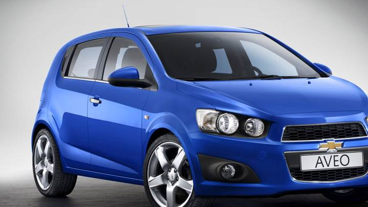 2012 Chevy Aveo Front Side Pose In Blue