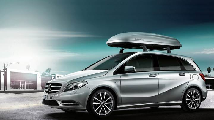 2012 Mercedes-Benz B-Class Accessories Side Pose In Silver