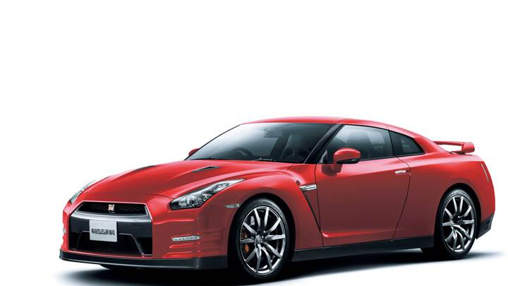2012 Nissan GT-R In Red Side Front Pose