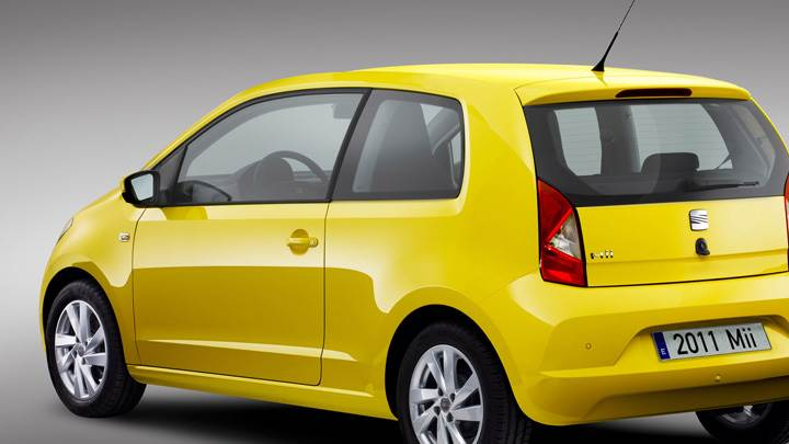2012 SEAT Mii Side Back Pose In Yellow