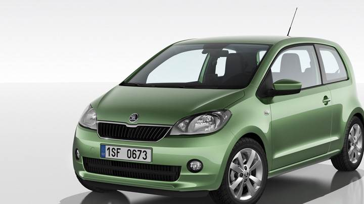 2012 SKODA Citigo In Green Front Pose