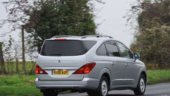 Side Pose of 2012 SsangYong Rexton In Grey