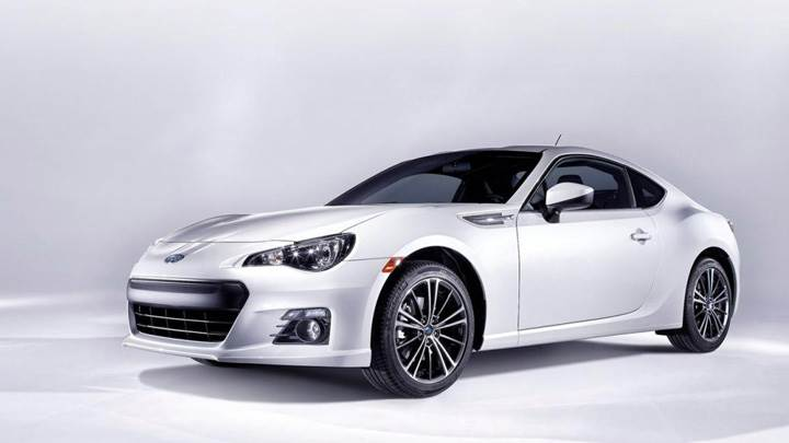 2012 Subaru BRZ Side Front Pose In White