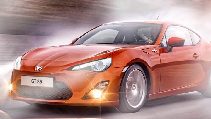 2012 Toyota GT 86 Headlight On In Orange