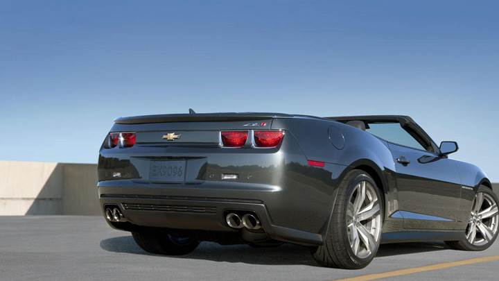 2013 Chevrolet Camaro ZL1 Convertible Side Back Pose