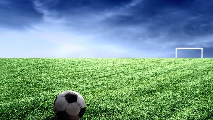 A Football In A Field