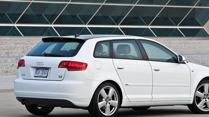 Audi A3 Side Pose In White