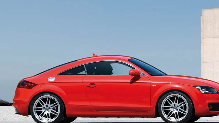 Audi TT Coupe Side Pose In Red