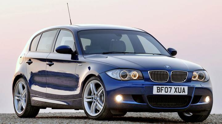 Bmw 1 Series M Sport Front Side Pose In Blue Wallpaper