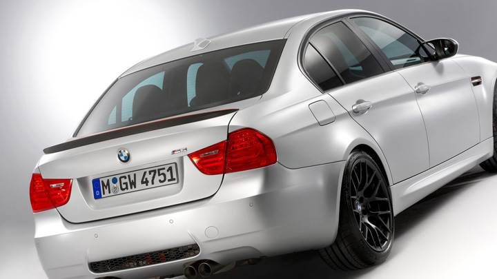 Bmw M3 E90 Crt Side Back Pose In White Wallpaper