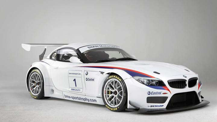 BMW Z4 GT3 in White At GoodWood Festival Of Speed
