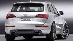 Back Pose Of 2009 Audi Q5 Caractere In White