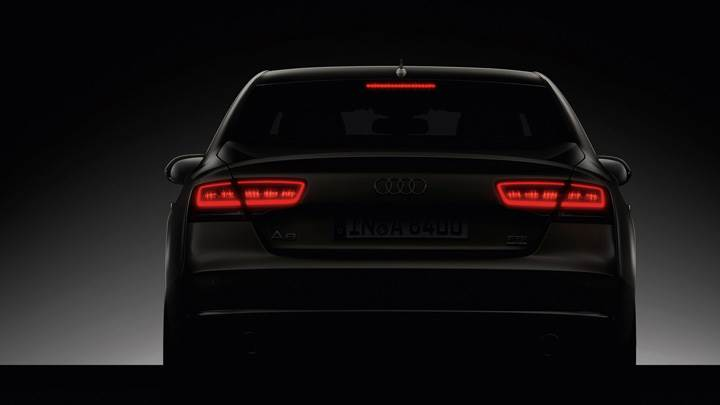 Back Pose Of 2011 Audi A8 BackLights On