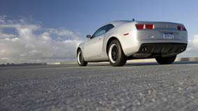 Back Pose Of 2011 Chevrolet Camaro in Silver