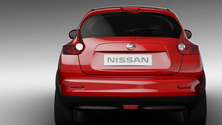 Back Pose Of 2011 Nissan Juke In Red