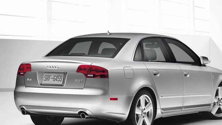 Back Pose Of Audi A4 S-line In Silver