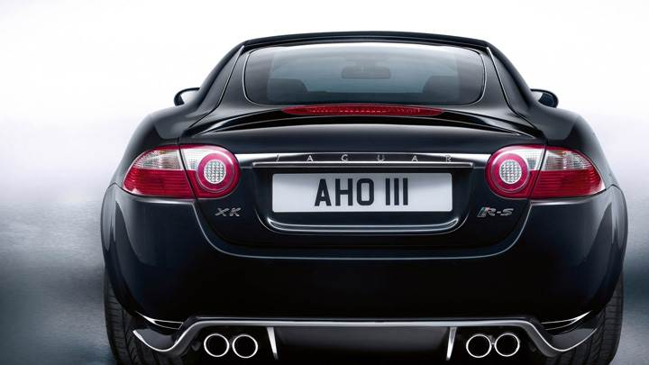 Back Pose Of Jaguar XKR-S In Black